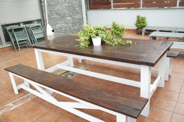 Picnic Table Plans - Free and Fancy - Woodwork City Free Woodworking ...