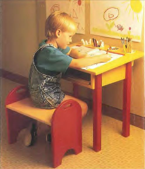 Child's Desk and Bench Plans