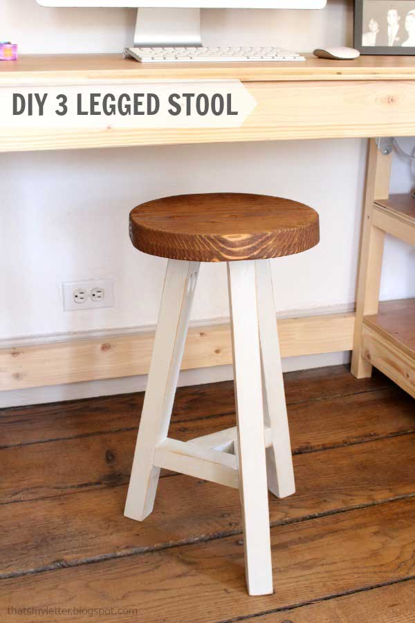 Three Legged Stool Plans Woodwork City Free Woodworking