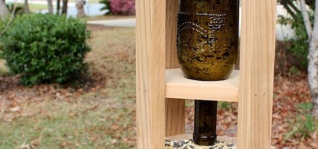 Wine Bottle Bird Feeder { Free DIY Plans } Rogue Engineer
