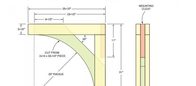 Corbel or Bracket Layout / Pattern