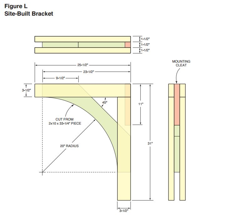 Corbel Or Bracket Layout Pattern Woodwork City Free