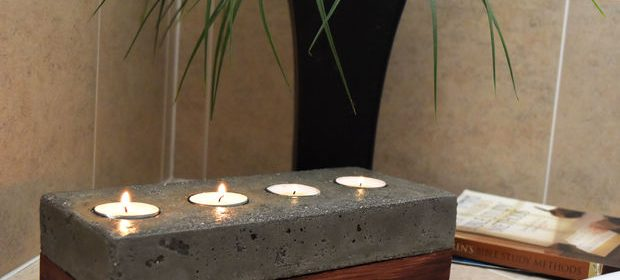 Concrete Candle Holder – All