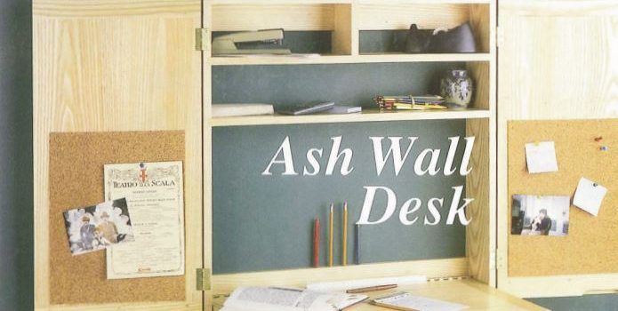 Free Wall Desk Plans