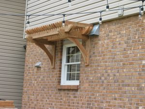 Pergola above window