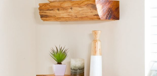 Floating Shelf from Firewood – Logs