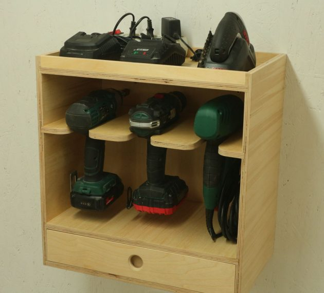 Making a Cordless Drill Storage Charging Station With Leftovers