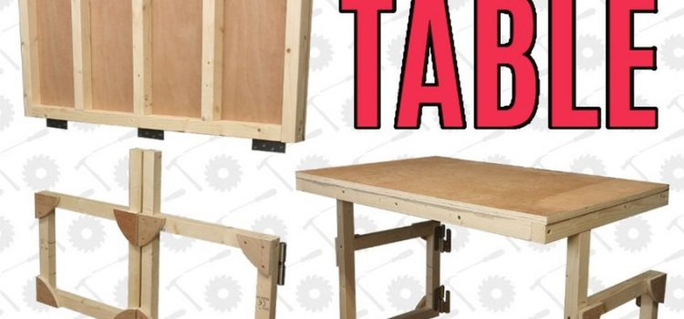 Folding Shop Table Plans – Wall Mount