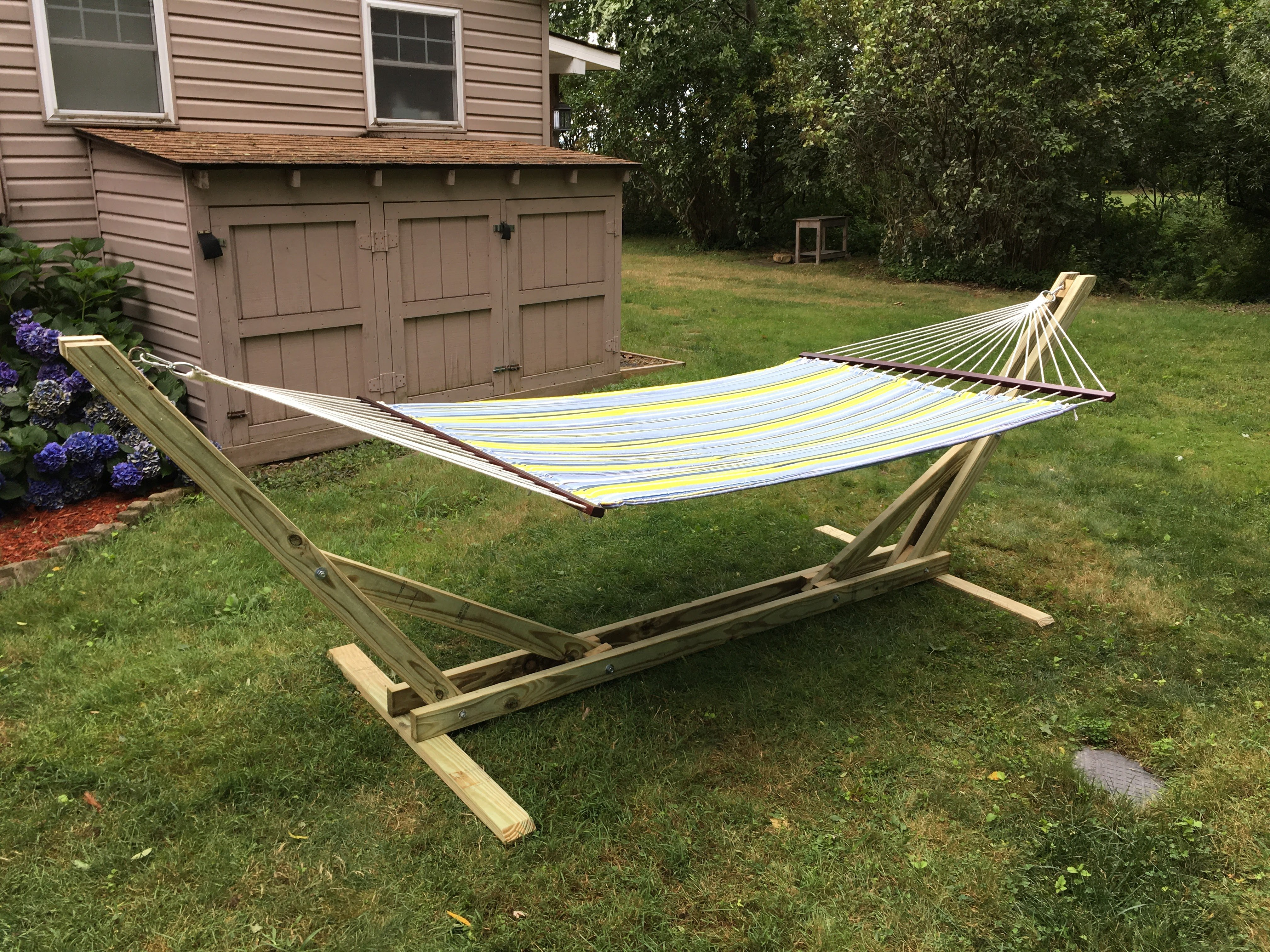 Diy Hammock Stand Woodwork City Free Woodworking Plans