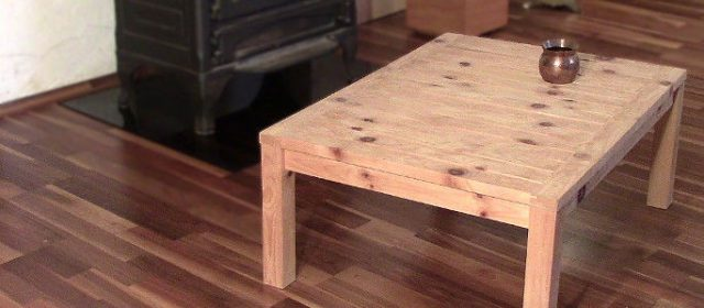 Coffee Table Made Form a Single 2×4